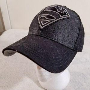 Superman DC Comics Black & Gray Big Logo Hat